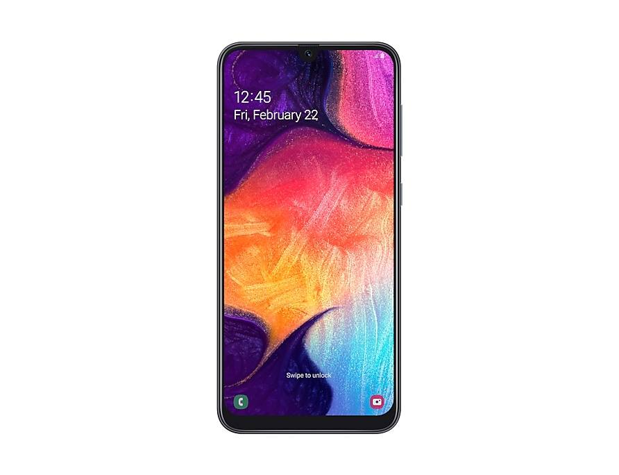 يُعد هاتف Galaxy A50 تحفة جمالية ذات تصميم فاخر. وسواءٌ وقع اختيارك على اللونين الأبيض أو الأسود العصريين، أم الأزرق والمرجاني الساطعين، فإن هيكل الهاتف النحيف سيناسب قبضة يدك على نحو مريح. وبفضل جانبه الخلفي المصنوع من الزجاج ثلاثي الأبعاد بإطار بلاستيكي أنيق، وبصمة الإصبع الموجودة على الشاشة، ستحصل على منحنيات ملساء انسيابية من جميع الجوانب.